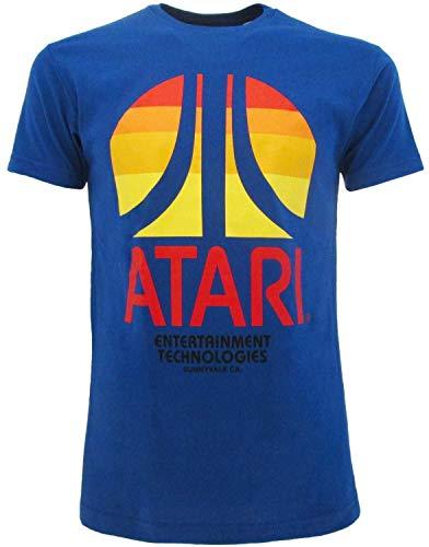 Official Atari Sunset Logo T-shirt, Blue