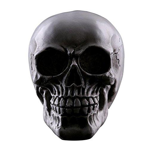 JIUQING interieur deco crâne résine skull têtes sculptées décoratives pour halloween Or #3