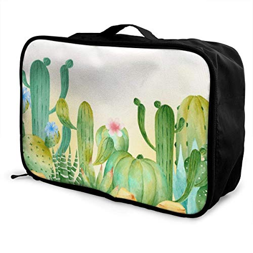Koffertaschen Prickly Pear Cactus Travel Storage Carry Luggage Duffle Large Capacity Portable Water Resistant Lightweight Travel Duffel Tote Bag With Trolley Sleeve Overnight Bag