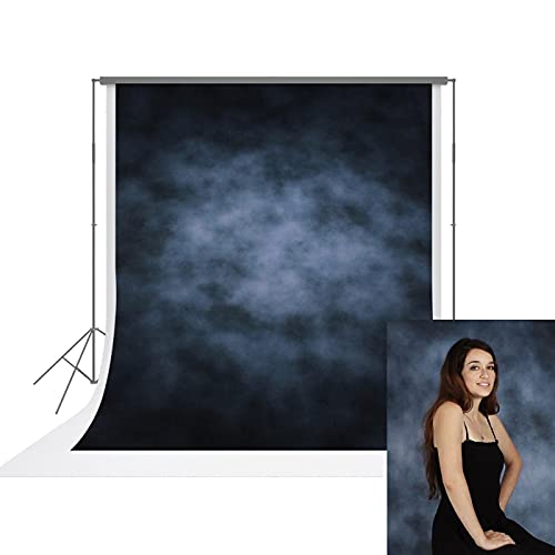 UrcTepics 6.5X10ft Pro Microfiber Blue Portrait Backdrop with Llighteffects and Texture Added Abstract Blue Photography Background for Headshot Photo Studio Props