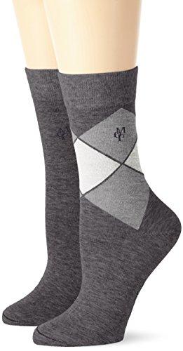 Marc O'Polo Body und Beach MATHILDA Damen Socken, Grau (grau-mel. 202), 35/38 (Herstellergröße: 400) 2er Pack