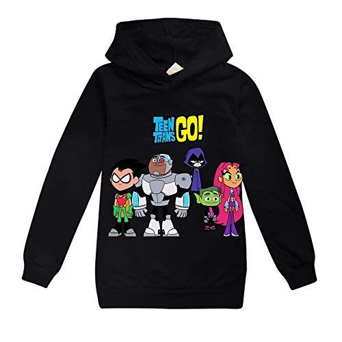 Unisex Teen Titans Go Pullover Los niños de Dibujos Animados Pullover Impresión...