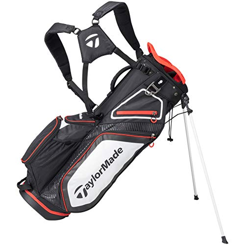TaylorMade Stand 8.0 Bag, Black/White/Red
