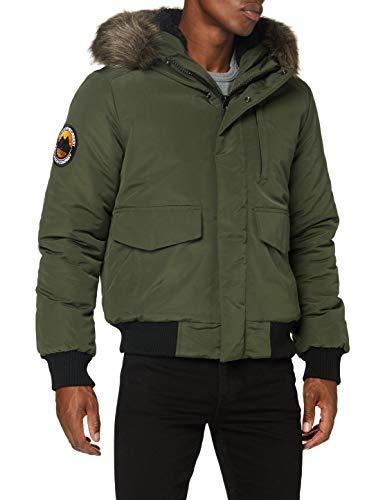 Superdry Everest Bomber Parka, Caqui del ejército, L para Hombre