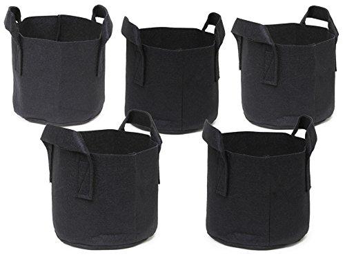 247Garden 5-Pack 7 Gallon Grow Bags/Aeration...