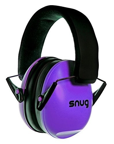 Snug Kids Earmuffs/Hearing Protectors – Adjustable Headband Ear Defenders for Children and Adults (Purple)