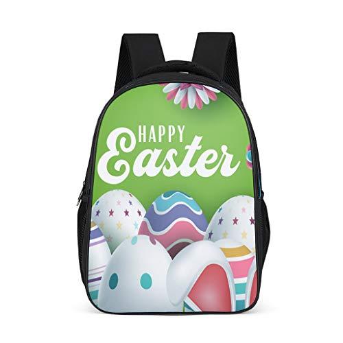 O3XEQ-8 Easter Rabbit - Mochila para niño o niña, diseño de Conejos Gris Gris Talla única