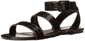 Rampage Women s Sienna Sandal Flat Black 9