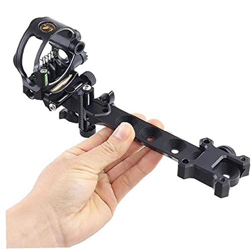 VusiElag Aiming Sight, 5 Pin Bow Sight with Micro Adjustable Mount Sight...