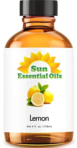 Lemon Essential Oil (Huge 4oz Bottle) Bulk Lemon Oil - 4 Ounce