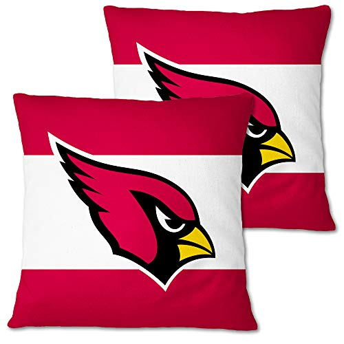 Football Team 2 Pack Throw Pillow Covers18x18 inch Sofa Square Pillowcase with Hidden Zipper for Home Decor