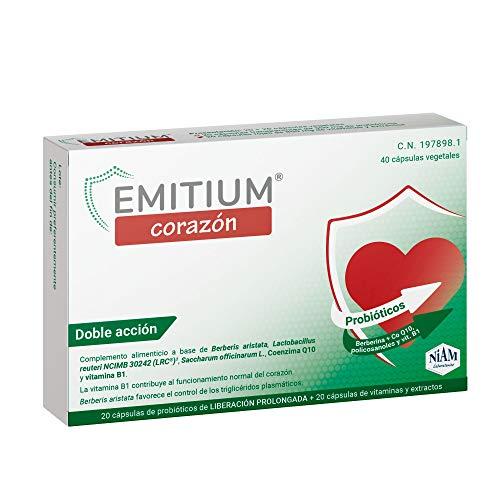 EMITIUM Corazón con probióticos, vitaminas y extractos vegetales - 40 cápsulas vegetales
