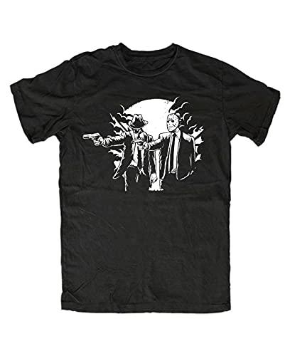 Pings Pulp Friday T-Shirt Movie Jason Freddy Horror Pulp Fun Fiction Cult TV Man T-Shirt 100% Cotton Sleeve Shirt Black S
