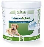 AniForte Senior Active Pulver 250 g für ältere Hunde - Mineralien, Aminosäuren & Vitamine für Hunde, unterstützt Gedächtnis- & Herzfunktion, Grünlippmuschel für Vitalität & Agilität, Senioren Futter