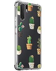 Oihxse Transparente Silicona Funda Compatible con Huawei Honor Play3 Carcasa Ultra-Delgado Suave TPU Gel Airbag Esquinas Anti Rasguños Lindo Protector Case Bumper(A6)