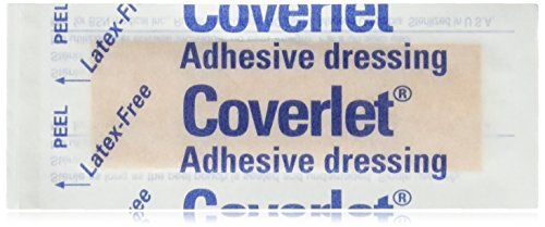 """BI00231 - Bsn Jobst Coverlet Fabric Adhesive Bandage Strip 1"""" x 3"""",100 Strips/pieces"""