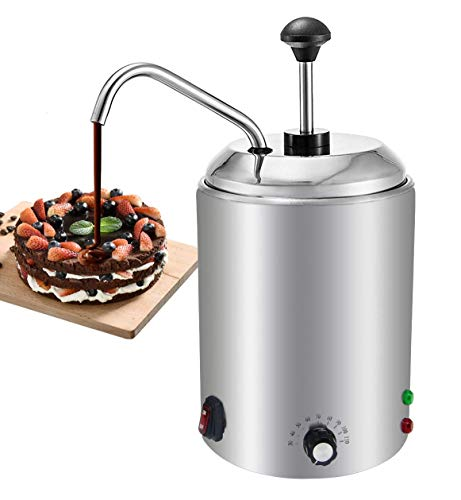 YUCHENGTECH 2.5L Chocolate Melt Pot Calentador de queso M¨¢quina de fusi¨®n Dispensador de salsa con bomba de prensa para calentamiento/fusi¨®n/calentamiento