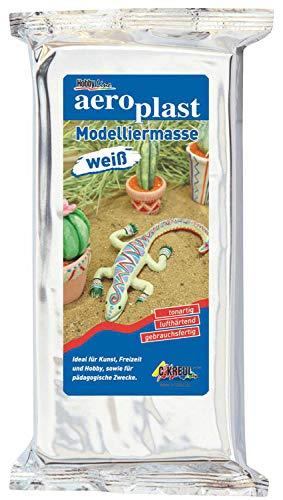 Kreul 76500 - aero plast, gebrauchsfertige Modelliermasse, zum Modellieren im Kunst- und Werkunterricht, im Kindergarben, für Profis und kreative Freizeitgestaltung, 500 g, weiß