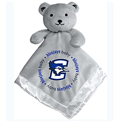 "Baby Fanatic Ncaa Legacy Infant Security Bear Blanket, Creighton Bluejays Gray, 14"" X 14"""