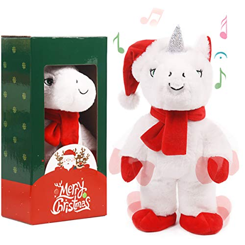 ARELUX Christmas Animated Toy 14' , Singing Dancing Unicorn Electric Toy ,Xmas Musical Gift Decorations
