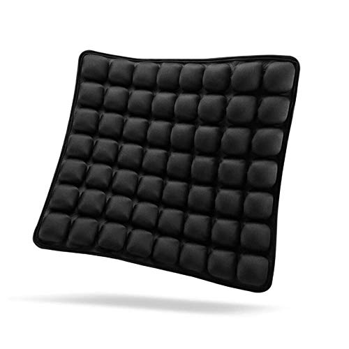 SUNFICON Inflatable Air Seat Cushions Portable Breathable Comfort Cushion Car Seat Office Chair Wheelchair Pad Orthopedics Pain Pressure Relief Cushion Camping Seat Mat 46 x 41CM Black
