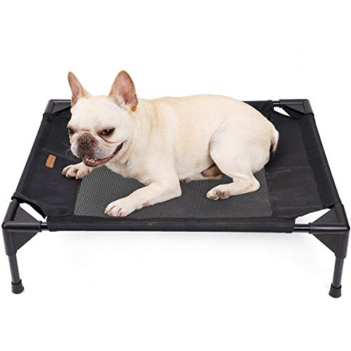 ETOPARS Collapsible Dog Camp Bed, Elevated Dog Bed, Moisture-proof Bed for Pets, Portable Raised Pet with Washable, Portable Camping Raised Dog Bed for Medium and Large Dogs