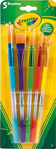 Nomaco- 5 Paint Brushes Disney Blister 5 pinceles surtidos Crayola 23x8, Multicolor (3007)