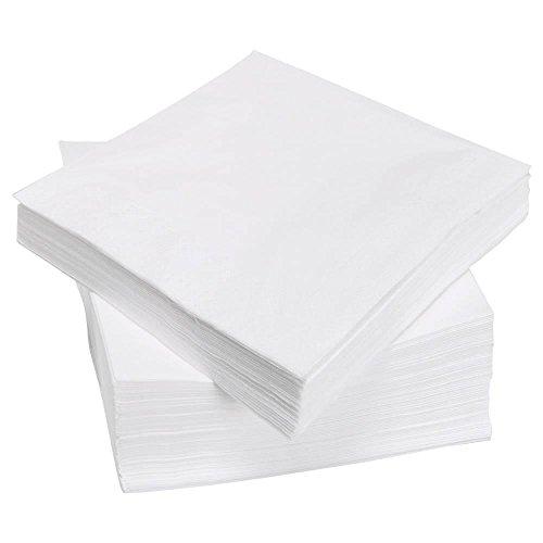 Swantex - Tovaglioli di carta usa e getta, 40 cm, 3 strati, confezione da 100, colore: Bianco