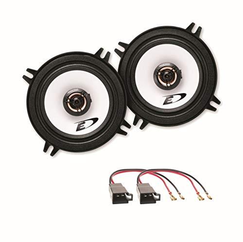 Alpine SXE-1325S 2-Wege Koaxial Lautsprecher Boxen System Einbauset passend für Golf 1 Cabrio vordere Türen
