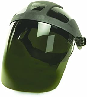 6x19 8x15.5 Clear Sellstrom 38110 Complete Face Shield with Drop-Down Ratchet Headgear