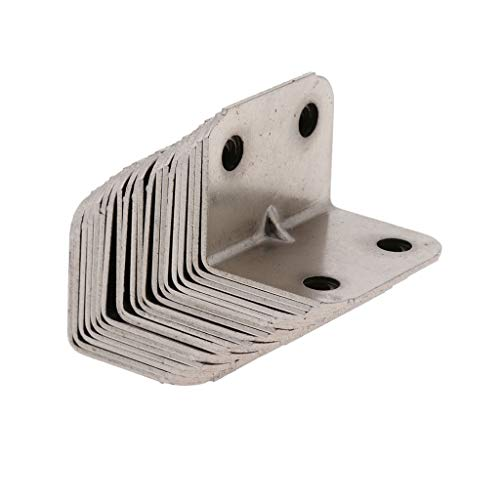 Support de renfort d/'angle Zinc 38mm x 38mm x10