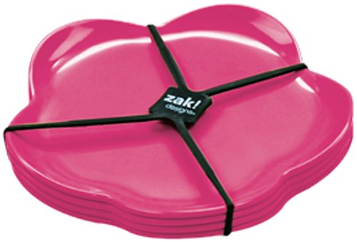 Zak ! Designs Sweety 1333-4550 - Juego de Platos de Postre (4...
