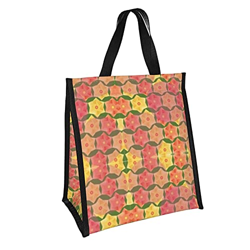 Bolsa de almuerzo plegable con patrón de Origami, bolsa de almuerzo plegable, caja de almuerzo reutilizable para picnic, escuela, trabajo, niños, 10 x 11 pulgadas