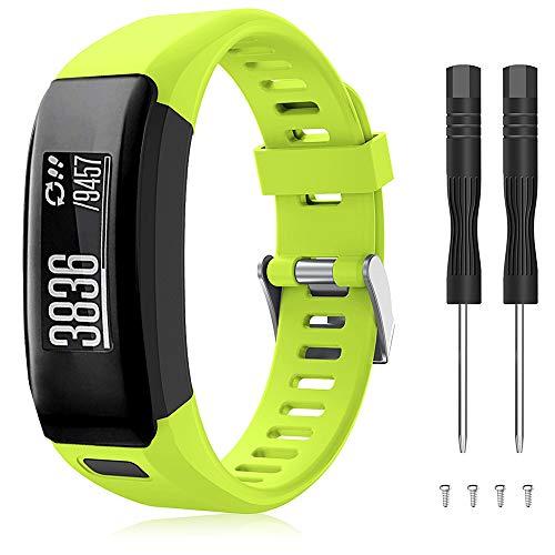 TOPsic Garmin Vivosmart HR Armband, Zubehör Verstellbares Weiches Silikon Bracelet Sport Armband Entwickelt für Garmin Vivosmart HR Smart Watch