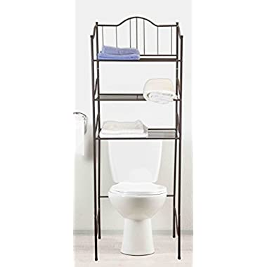 Home Basics 3 Tier Over the Toilet Space Saver, Bronze