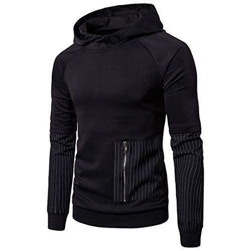Herren Pullover Hoodie Hooded Sweatshirt Patchwork Top Casual Hoodie mit...