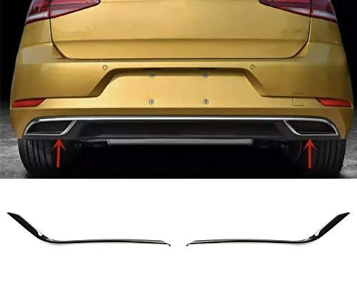 AUTOLIGHT 24 Chrom Rahmen Abdeckung Edelstahl Auspuff R-Look für Golf 7 und Sportsvan