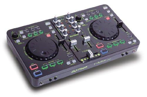 DJ-Tech I-Mix MKII USB-DJ-Mixer/Controller mit Soundkarte (USB Kabel, Stereo Cinch Kabel und Deckadance Software)