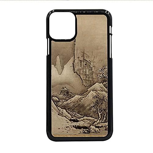 Caja del Teléfono Abs Compatible para iPhone 11Pro para El Hombre Tener con Asian Chinese Painting 2