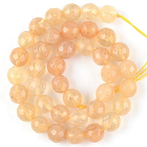Cara del tigre redondo natural Tiger Tiger Eye Turquetes Jaspes Spacer Pied Stone Beads para la bracela Fabricación de joyas-Té sandía_8mm 45 a 46pcs