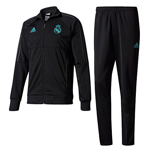 adidas Kinder Real Madrid Trainingsanzug, Black/Solgre, 164
