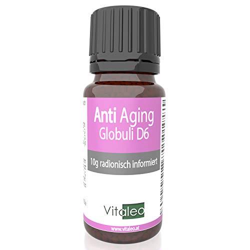 Anti Aging Globuli - Falten reduzieren, frisch und munter aussehen, Hautbild verbessern, radionisch/bioenergetisch in Potenz D6 informiert - Qualiät aus der Apotheke