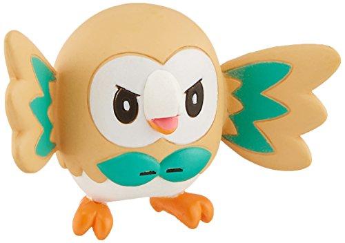 TAKARA TOMY Muñeco de acción pequeño, de TakaraTomy, basado en un Personaje de Pokémon, el bhúo Rowlet, Modelo EX EMC-02, de 3,8cm