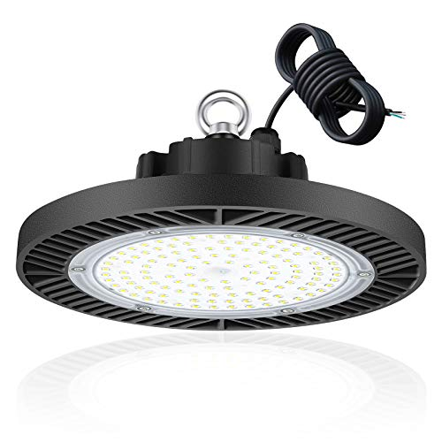 100W UFO LED Lámpara Alta Bahía, bapro 10000LM Focos Led Interior Techo 6500K Industrial LED Iluminación Comercial Impermeable IP65,para Fábricas, Aeropuerto, Patio, Restaurante