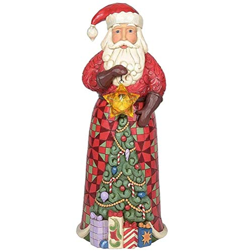 The Spirit of Christmas Jim Shore Heartwood Creek Santa Claus Statue Lighted Star Large