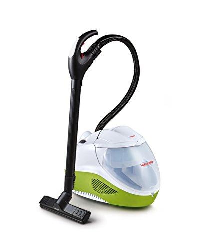 Polti Vaporetto PVEU0085 Lecoaspira FAV80_Turbo Intelligence - Limpiador a vapor y aspirador con filtro de agua que aspira suciedad seca y líquida, 6 bar de potencia de vapor, 15 accesorios incluidos
