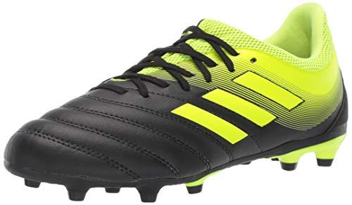 adidas Unisex-Kid's Copa 19.3 Firm Ground, Black/Solar Yellow/Solar Yellow, 6 M US Big Kid