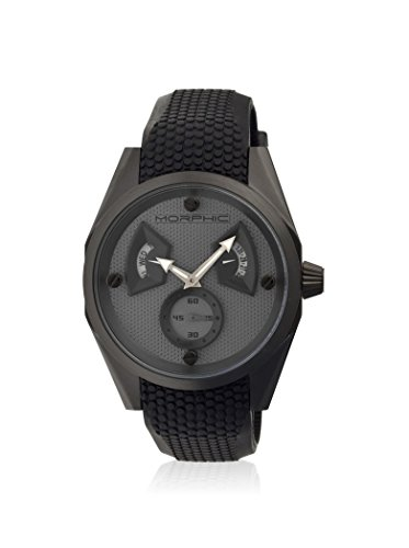 Morphic Men's MPH3403 M34 Series Black/Grey Silicone Watch