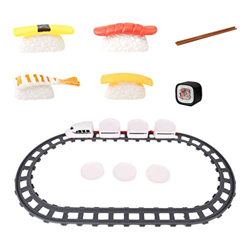 SM SunniMix Electronic Classic Train Set Revolving Electric Train for Kids Boys Girls Age 5+ Birthday Gifts - Style 4