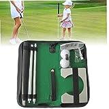 Liadance Golf Putter portátil de Doble vía Putter Kit de Información Ejecutivo Golf Que Pone Regalo Conjunto de Entrenamiento Aire Libre de Interior
